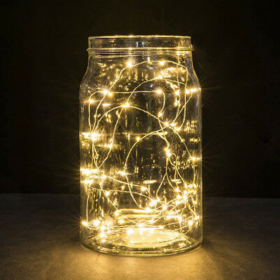 10cm/20cm/30cm LED Button Copper Wire Mini String Lights Party Fairy Lights D