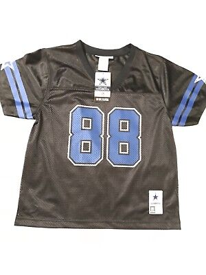 reputable site 5e89e 3cdba YL NWT NFL Dallas Cowboys Jersey Dez Bryant #88 Black Blue Accents Youth  Large