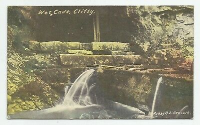 c.1911 Wet Cave CLIFTY Whiskey Production Campbellsburg IN Hancock Pub POSTCARD