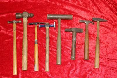 Lot of (8) Fine Vintage Assorted Craftsman Hammer's