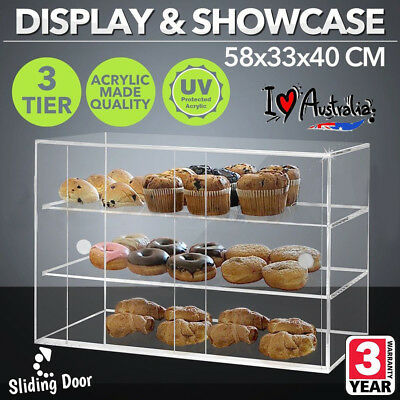 Acrylic Cake Display Cabinet Cookies Large Muffin Cupcake Slice Donuts Pastries