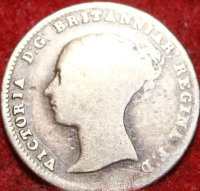 1855 Great Britain 4 Pence Silver Foreign Coin