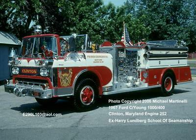 Clinton MD 1967 Ford C Young pumper Fire Apparatus Slide