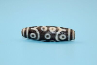 47*14 mm Antique Dzi Agate old 15 eyes Bead from Tibet **Free shipping**