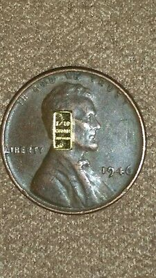 1/10 Gram .999 FINE gold and 1946 Penny .