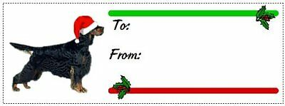 Gordon Setter Christmas gift tags WATERPROOF 180 pieces