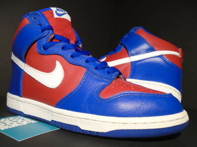 best sneakers 547eb 837ed 2004 Nike Sb Dunk High La Clippers Usa Royal Blue White Red Denim 305287-411