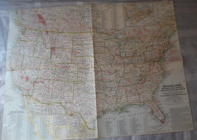 Map United States+Canada Monuments+Shrines May 1958