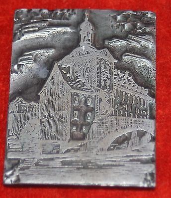 Print Plate Cliche Bamberg Old Town Hall 6x4, 5 Cm