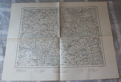 Map Outline Map of Central Europe 1:3 00000 R 48 Kaschau Preuss. Landesaufn