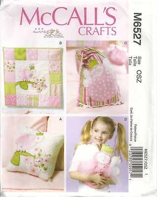 McCALLS CRAFTS M6527  PILLOW, WALL HANGING, BAG, DECORATION SEWING PATTERN