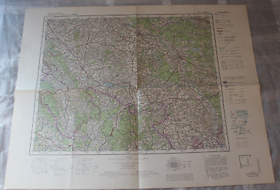 Map Outline Map of Central Europe 1:3 00000 P51 Oppeln