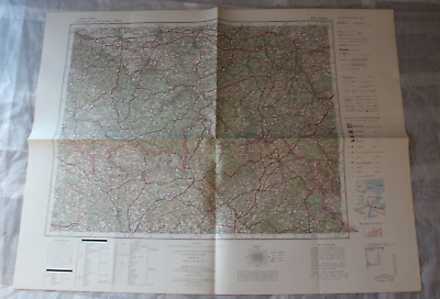 Map Outline Map of Central Europe 1:3 00000 M 51 Erfurt
