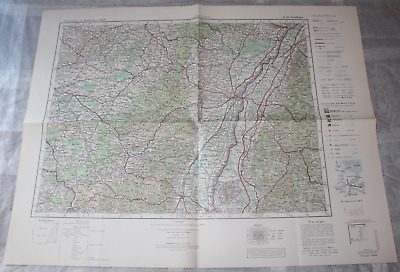 Map Outline Map of Central Europe 1:3 00000 K 49 Strasbourg Strassburg