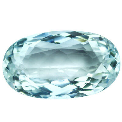 13.85Ct Elegant Oval Cut 22 x 13 mm 100% Natural Top Luster Aquamarine