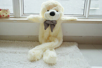 5.9Ft 1.8M White Giant Skin Teddy Bear Big Unfilled Plush Toy DIY Christmas Gift
