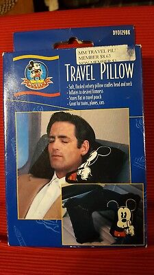 Disney's Mickey Mouse Travel Pillow By Mickeys World- New in Box