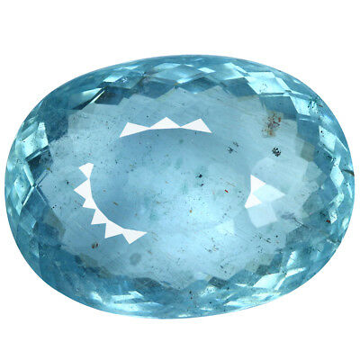 12.46Ct Awe-inspiring Oval Cut 17 x 13 mm Top Fire Santa Maria Blue Aquamarine