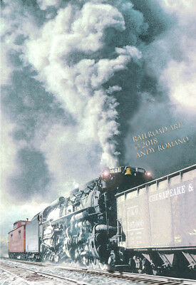 C&O 2-6-6-6 ALLEGHENY PUSHER DUTY ART BY ANDY ROMANO LIMITED 1st EDITION R18-379