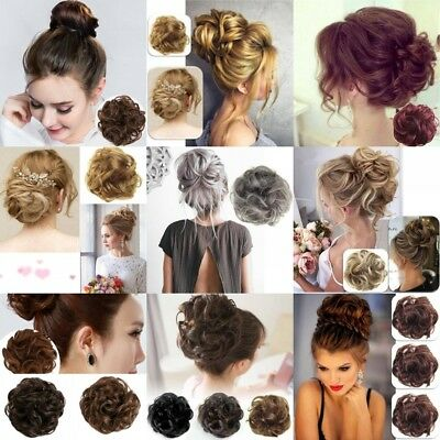 Curly Messy Bun Hair Piece Scrunchie Updo Cover Hair Extensions Real Natural Hot