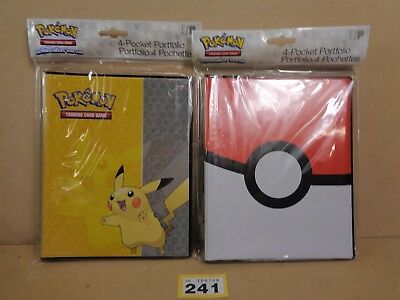 Pokemon Trading Card Game TCG Pikachu Pokeball 4 Pocket Binders Clearance 241