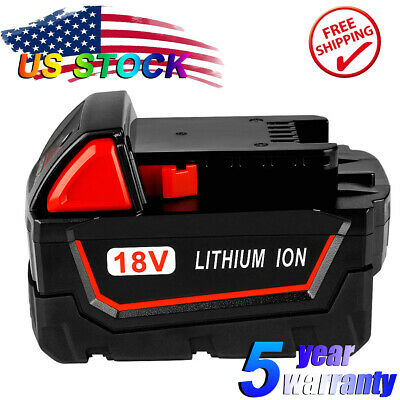 NEW Extended Battery For Milwaukee 48-11-1852 M18 LITHIUM XC 6.0 18v 18Volt Tool