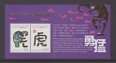 Christmas Island  2010 Year of the Tiger Mint unhinged mini sheet