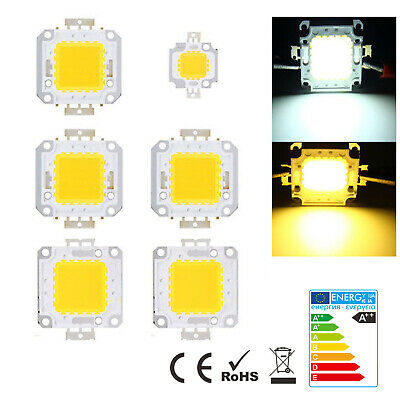 10W 20W 30W 50W 70W 100W LED Chip 12V-36V High Power Lamp Light COB SMD Bulb DIY