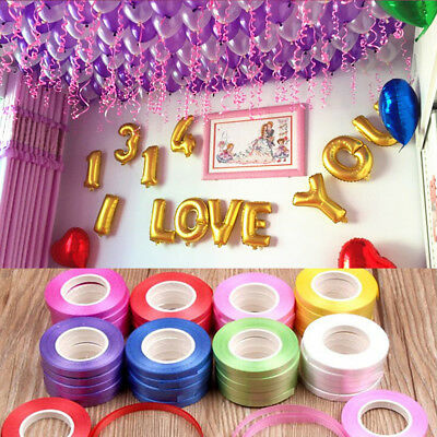 10m Balloon Ribbon Roll Wedding Decoration Gift Box Decor Birthday Party Favors