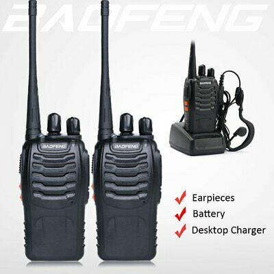 4x Baofeng Mini Walkie Talkie 3-5km Two Way Radio Outdoor Interphone Kids Gift