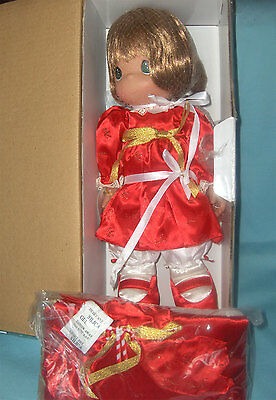 2008 Precious Moments Collectible Christmas Stocking Doll Decorative Red Outfit