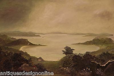 Australian Colonial oil painting CONRAD MARTENS view of Vaucluse signed Martins