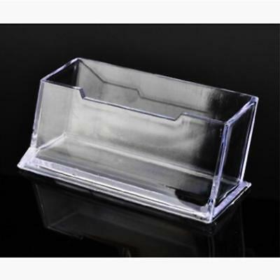 Clear Desktop Business Card Holder Display Stand Acrylic Plastic Desk Shelf MT