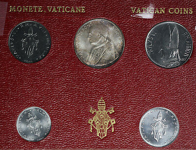 Vatican City Coin Set - Including Pope Paul VI 1967 500L Silver Coin!