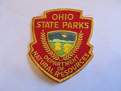 Ohio State Conservation Park Ranger Patch Old Cheese Cloth