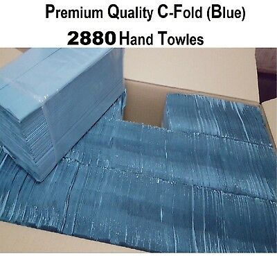 Soft C Fold Paper Hand Towel White Blue Multi Fold Luxury Case of 2880 sheets