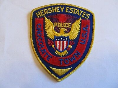 Ohio Hershey Estates Chocolate Town Police Patch Defunct Cheese Cloth