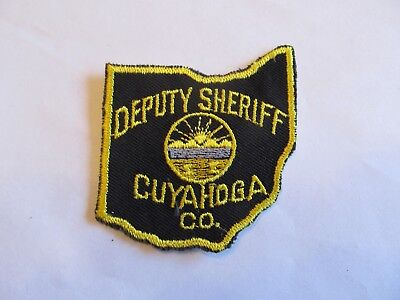 Ohio Cuyahoga Co Sheriff Patch Old Cheese Cloth