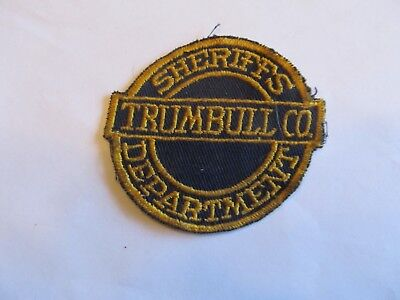 Ohio Trumbull Co Sheriff Patch Old Cheese Cloth