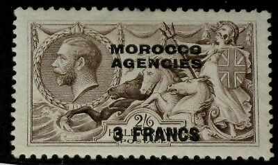 1924 Great Britain Morocco Agengies Sc #410 - 3 Francs On 2Sh6P Mint H