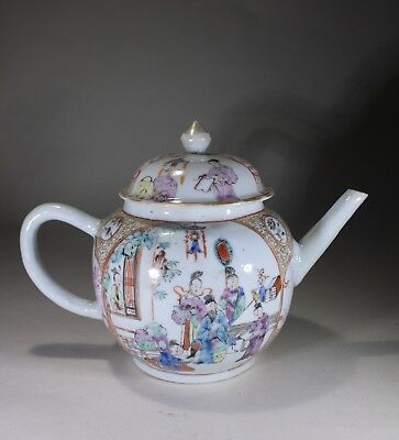 Antique Chinese Porcelain Famille Rose Teapot Qianlong - Beautiful!