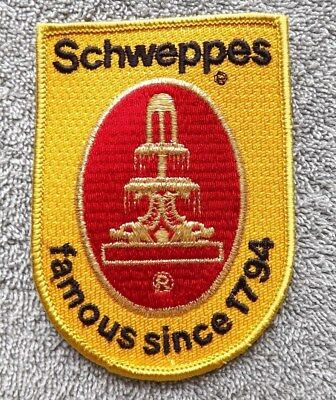 Shield Shape Schweppes famous since 1794 Soda Patch Jacket Badge NEW
