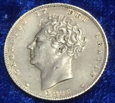 Antique Solid Silver King George IV 1826 Sixpence