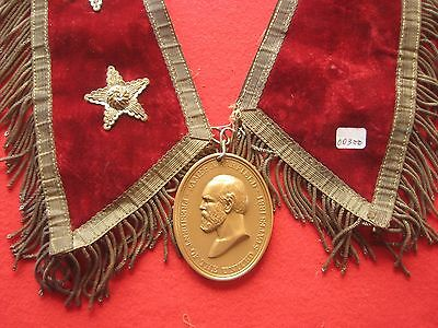 James Garfield, President Peace Medal, On Ornate Presidential Collar Chi-00300