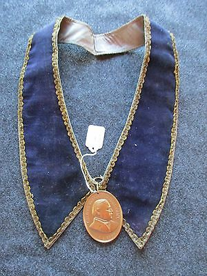 Grover Cleveland, President Peace Medal, On Ornate Presidential Collar Chi-01292