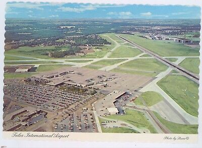 TULSA, OKLAHOMA INTERNATIONAL AIRPORT 1970s postcard (air view)