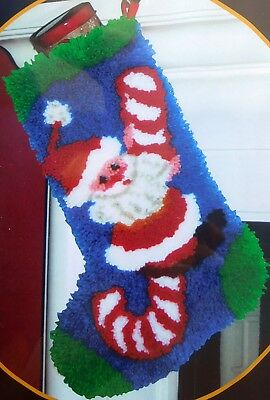 "Mcg Textiles Christmas Stocking Latch Hook Kit ""candy Cane"""