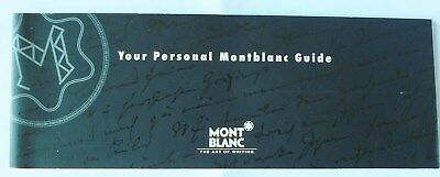 Montblanc Instructions Guide And Open Warranty Booklet