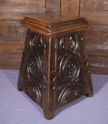 French Antique Late Gothic Period (1600's) Salt Box/Stool/Bench