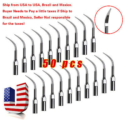 50pcs Dental Ultrasonic Scaler Tips Scaling GD4 for DTE SATELEC SKYSEA SANDENT